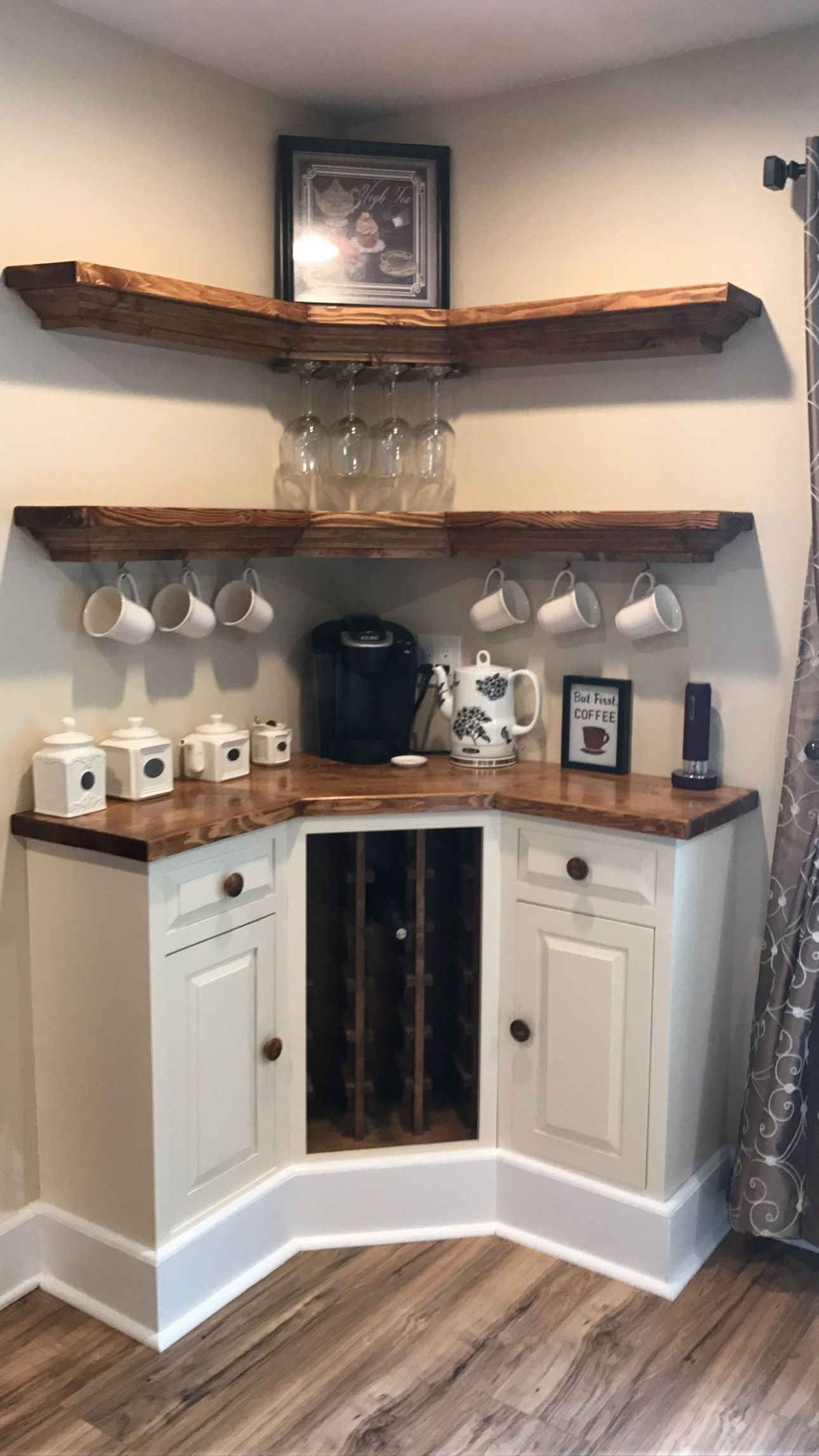 coffee corner in dining room!!! | Bars for home, Coffee bar home ..