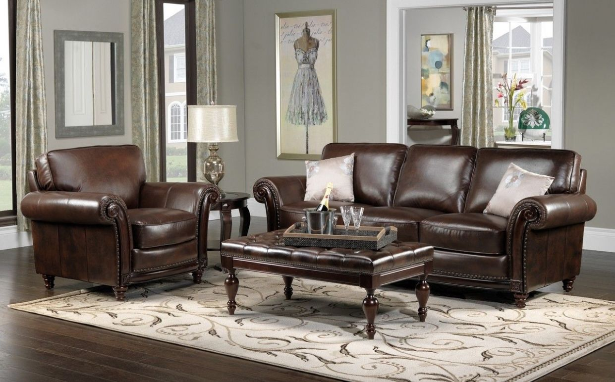 Color Schemes For Living Rooms With Brown Leather Furniture And D ...