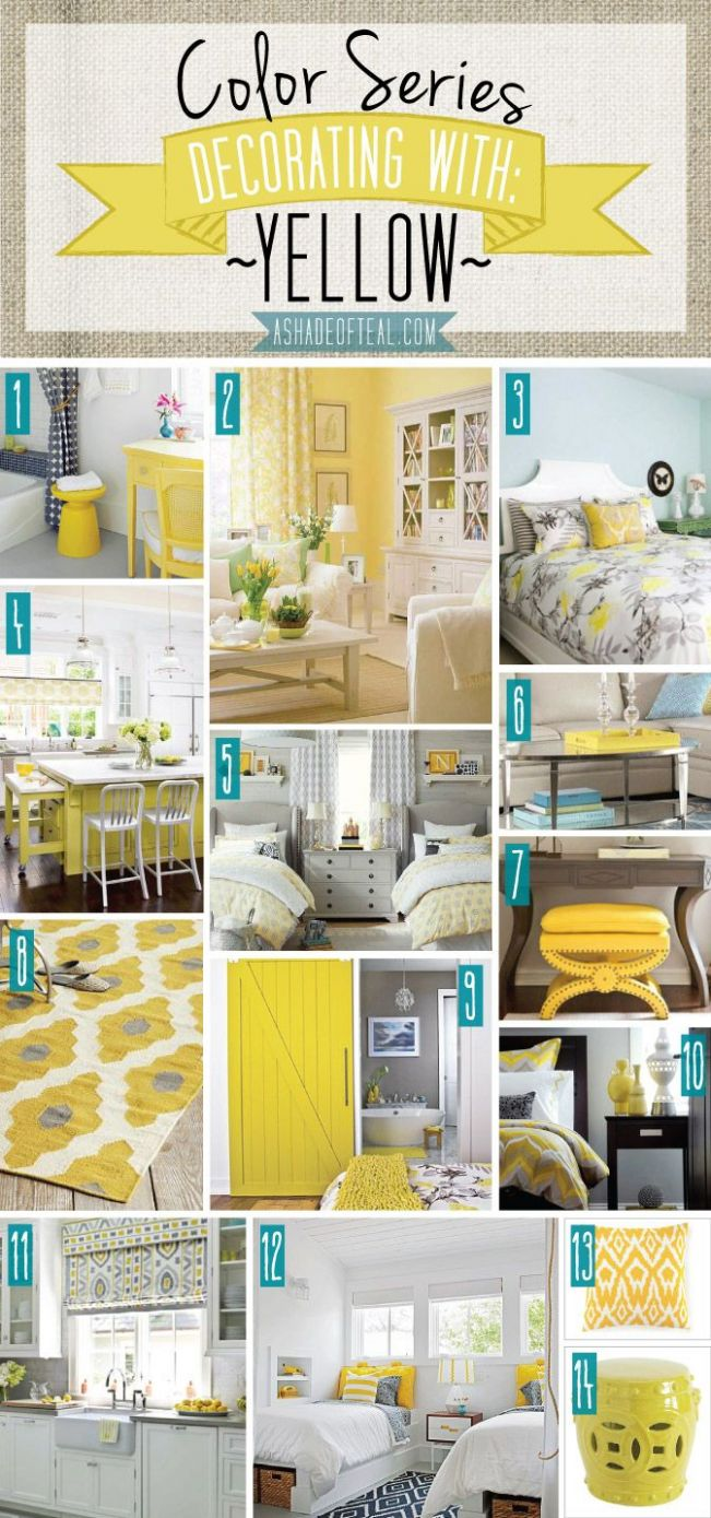 Color Series; Decorating with Yellow | We ♥ Yellow! | Yellow home ...