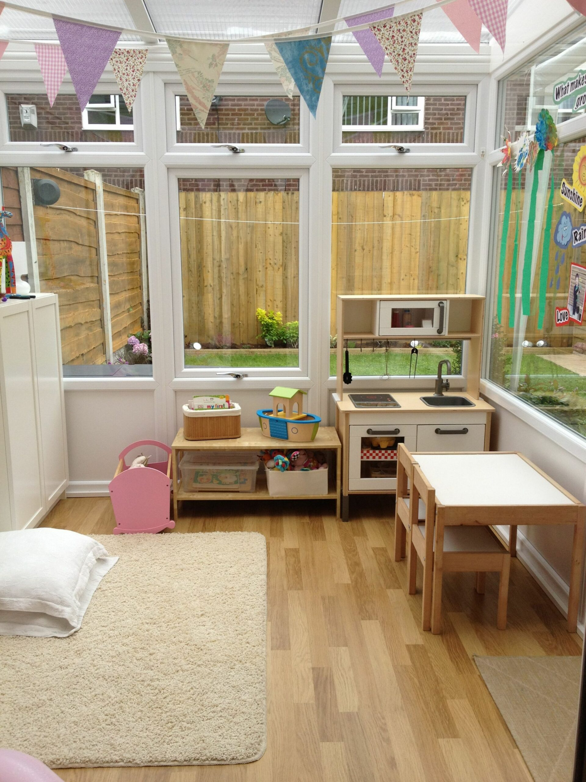 Conservatory converted into a playroom | Small playroom, Small sunroom - small sunroom ideas uk