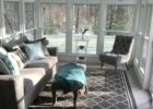 Converted a brown screened in porch to this 8 season sanctuary ...