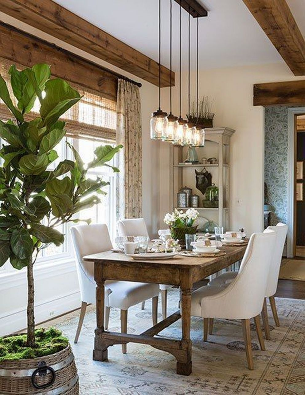 Cool 9+ Dining Room Arrangement Ideas | Farmhouse dining room ..