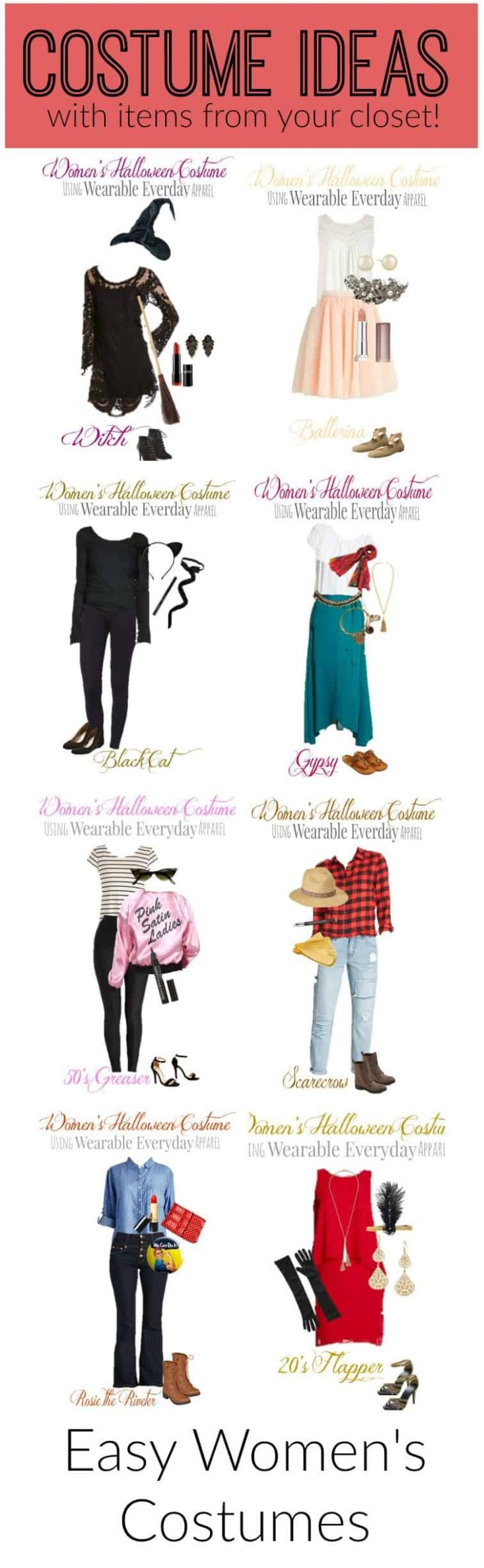 Costume-Ideas-with-Items-from-your-closet - closet costume ideas