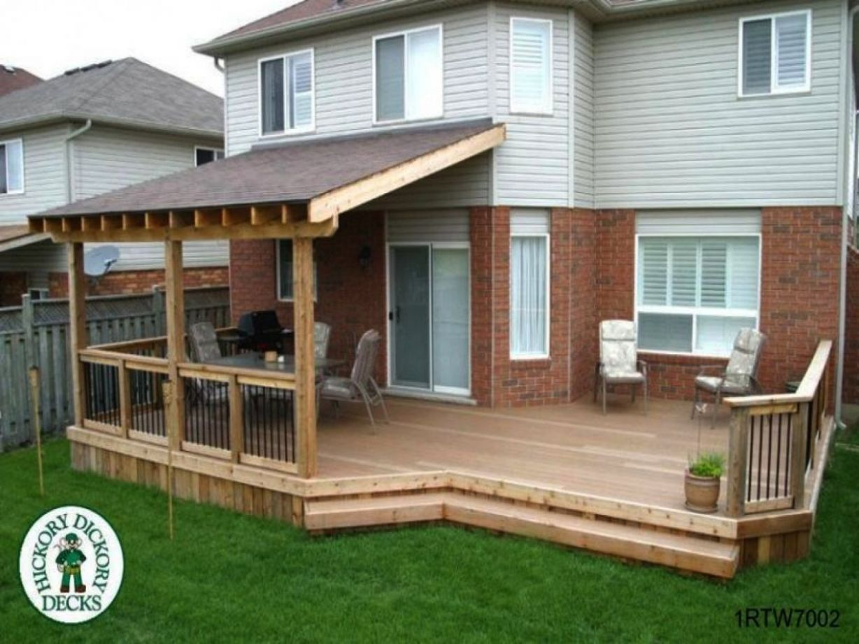 Covered Decks Ideas Roof Over Deck Plans Diy Build And Backyard ...