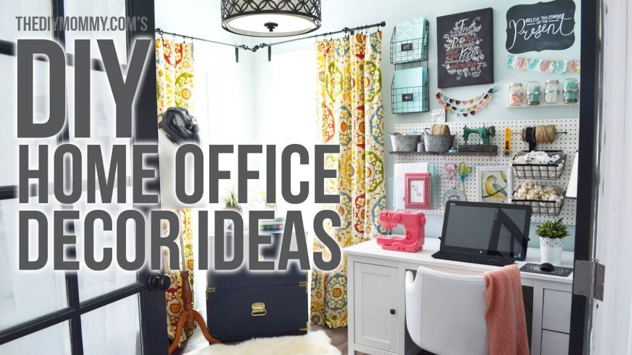 Craft Room Home Office Tour // 9 Easy DIY Office Decor Ideas - diy home office decor