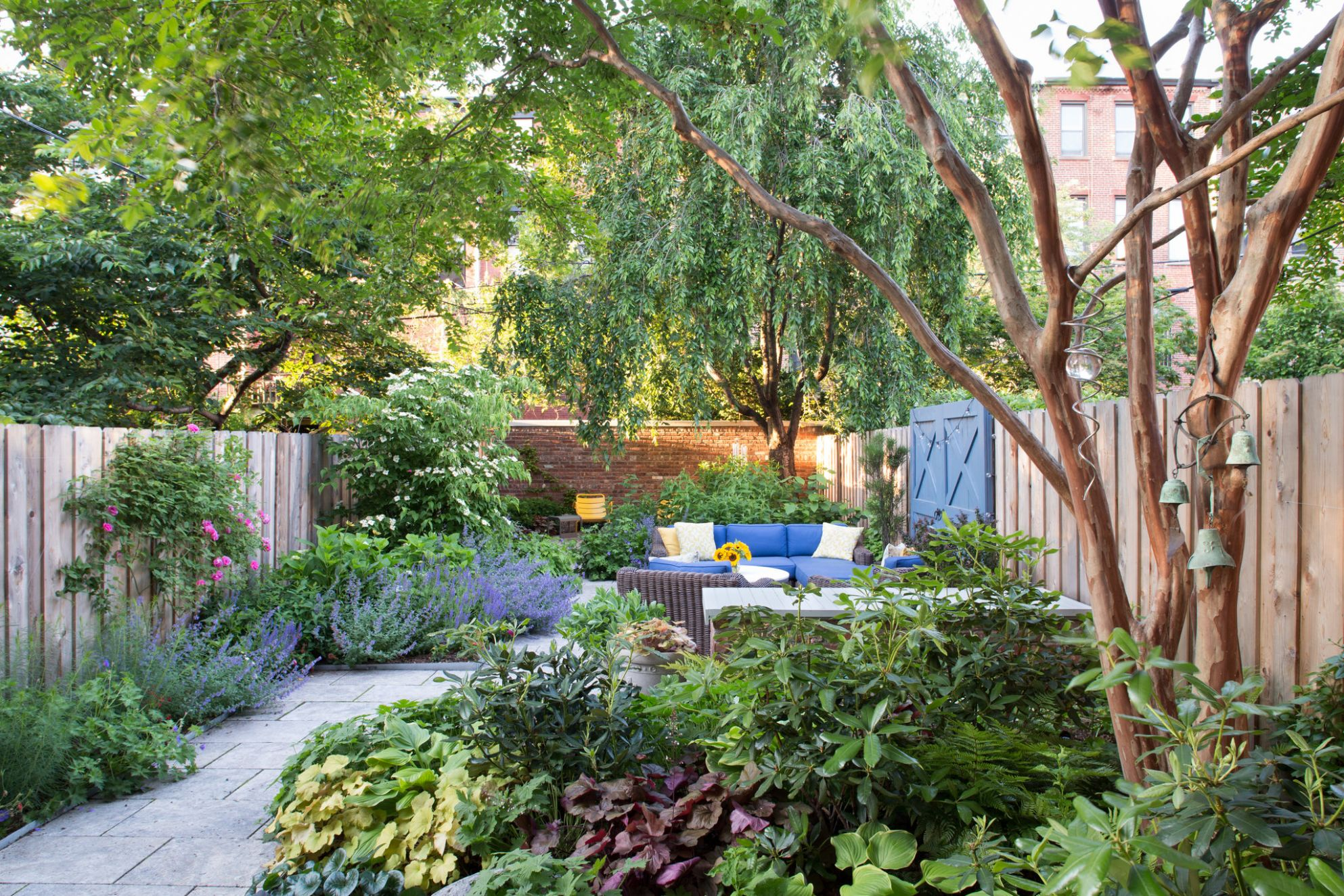 Creating a Garden Oasis in the City - The New York Times - jungle backyard ideas