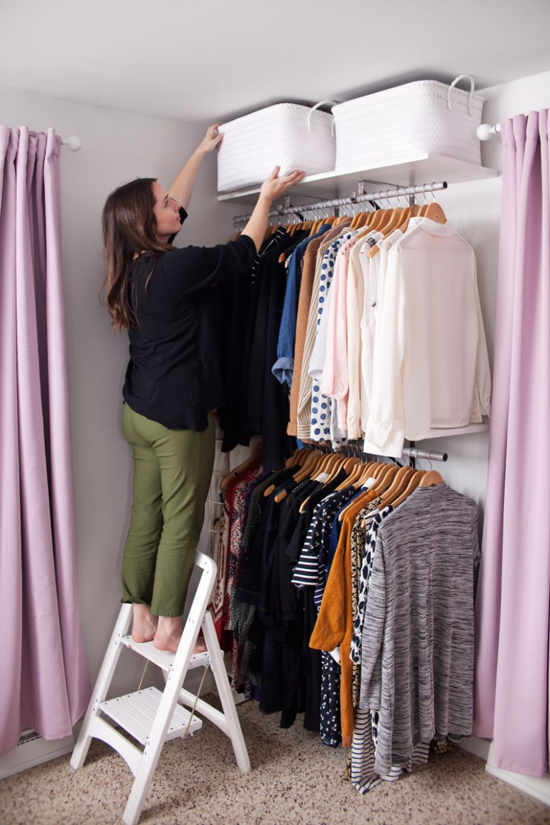 Creating an Open Closet System - A Beautiful Mess - closet arrangement ideas