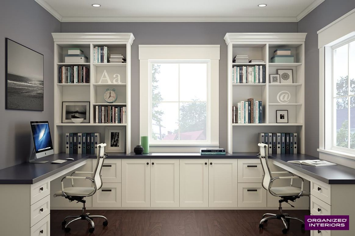 Custom Home Office Ideas | Organized Interiors - home office ideas for two