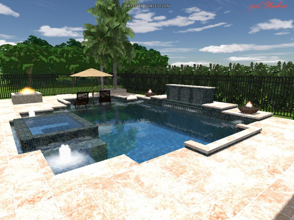 Custom Swimming Pool Design Pictures | Pool Design Photos - pool ideas modern