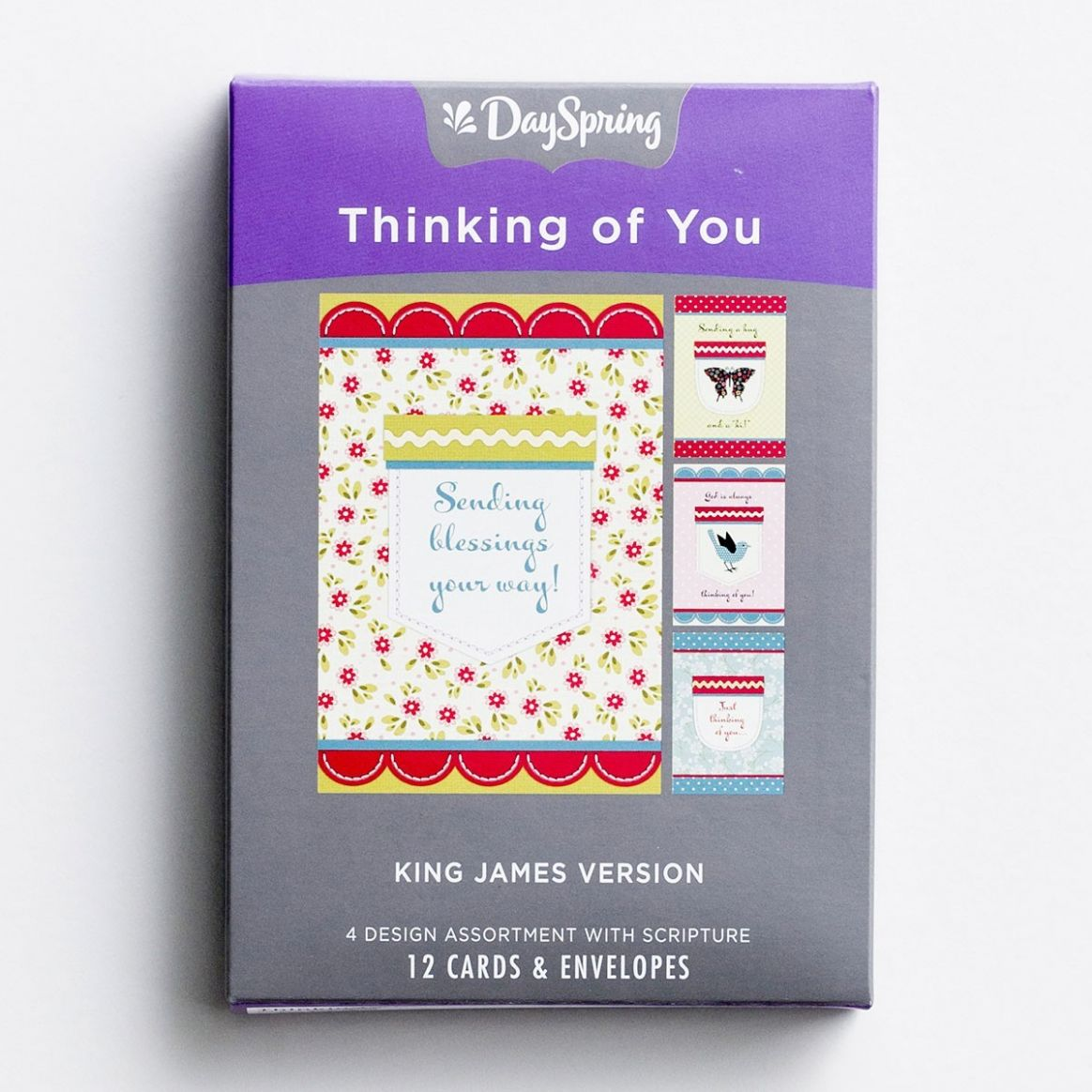 DAYSPRING BOXED CARD - Thinking of You - Pockets of Inspiration - KJV - house of inspiration inc