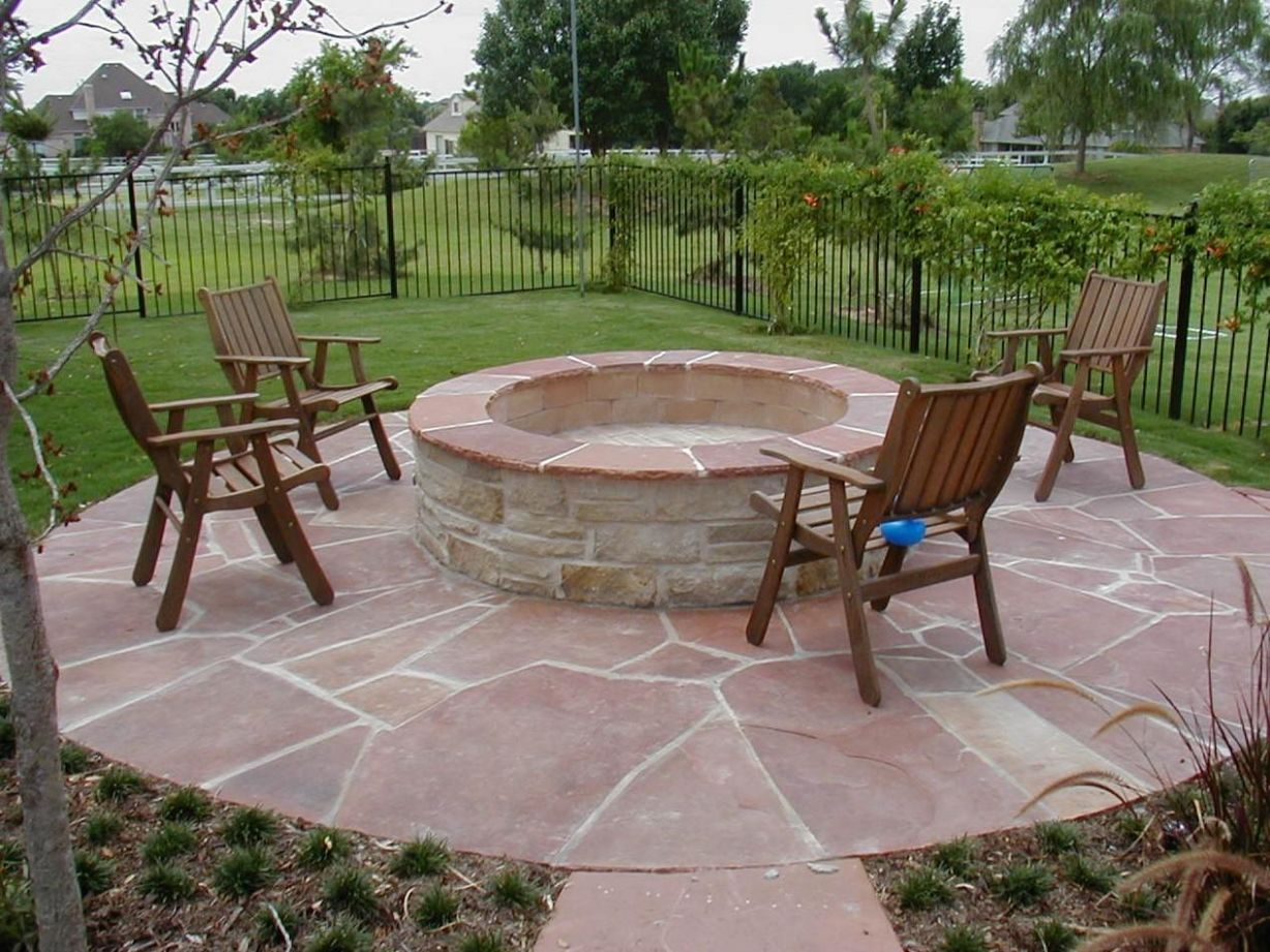 Deck Fire Pit Ideas Swimming Pool Designs Ground Above ..