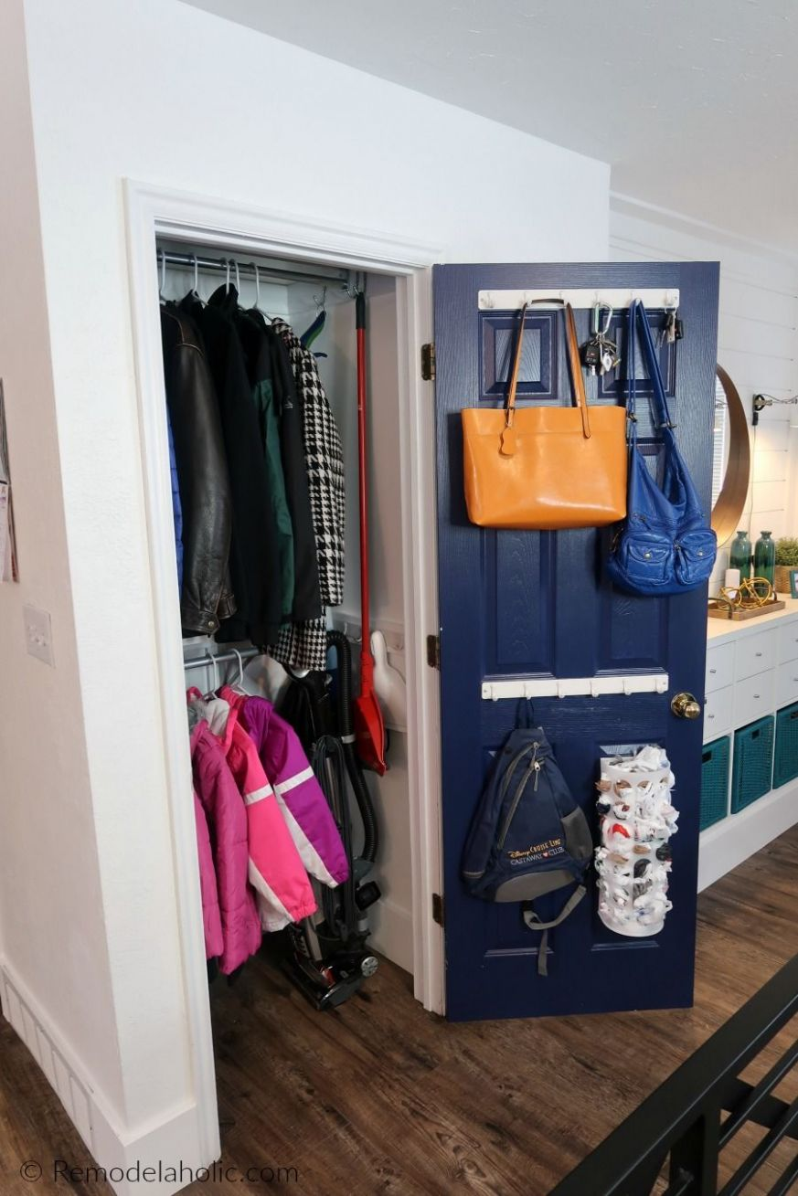 Decluttered Organized Front Entryway Closet As A Coat Closet ..