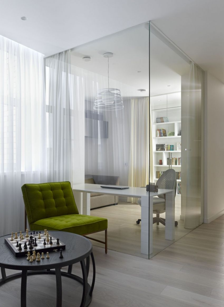 Decor from Room Corner Nearby Home Office Separated By Transparent ..