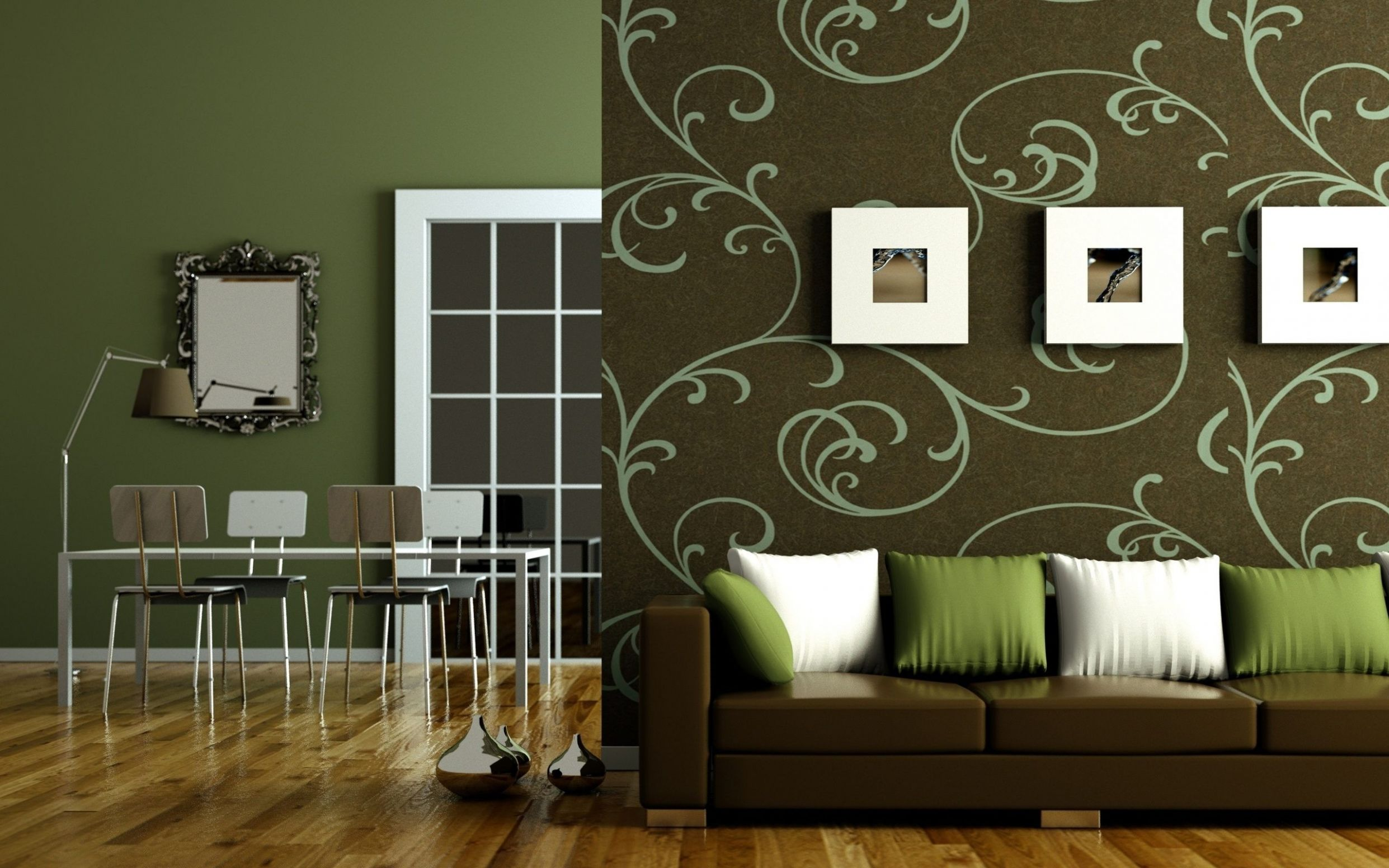 Decorating Ideas For Living Rooms Wallpaper Lovely Olive Green ...
