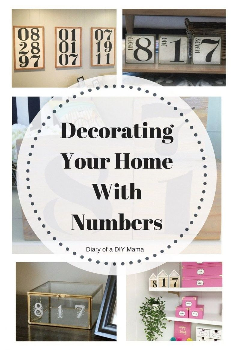 Decorating With Numbers DIY | Decor, Decorating your home, Diy