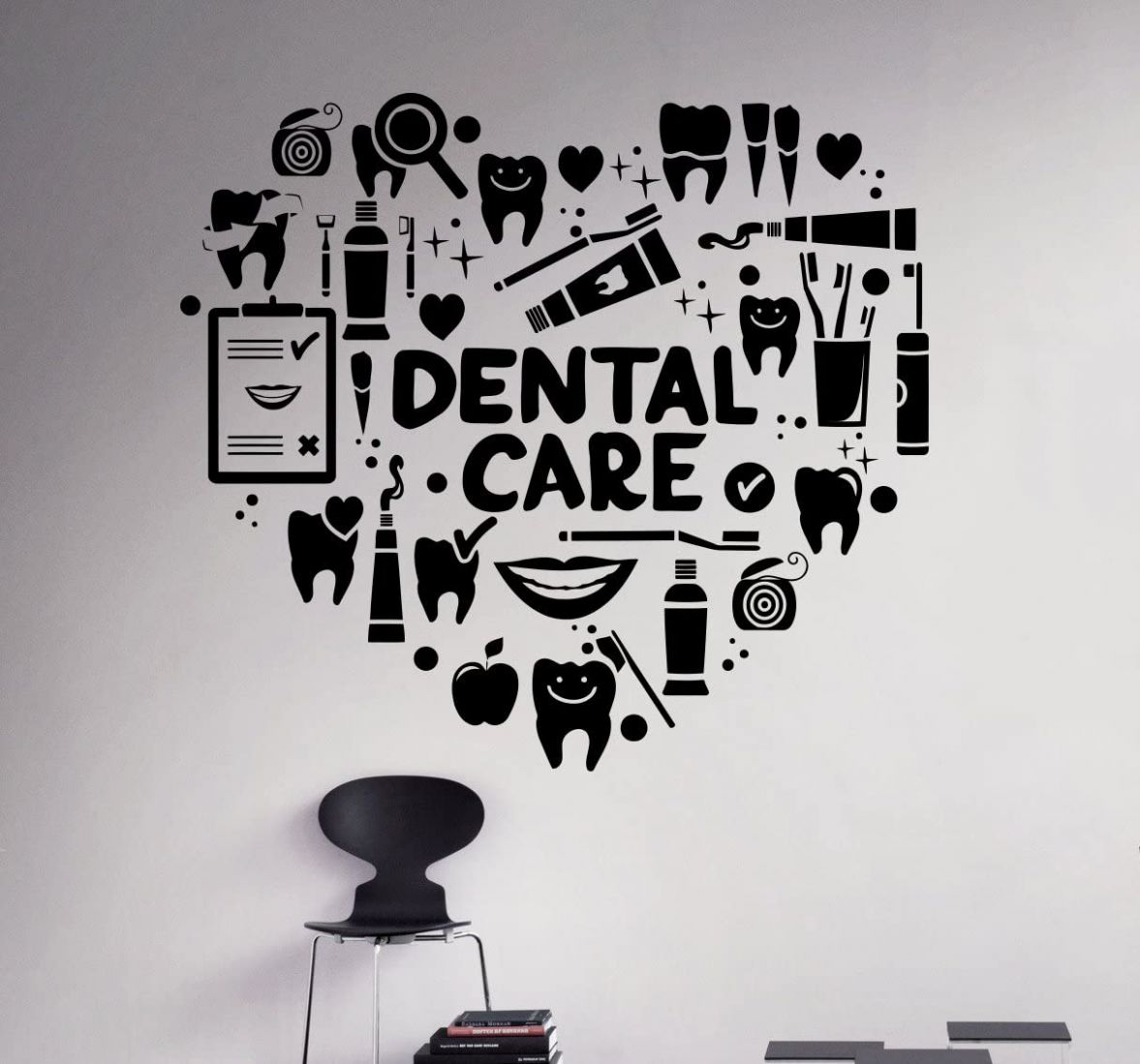 Dental Care Wall Decal Dentist Medical Vinyl Sticker Home Decor Ideas  Bathroom Interior Removable Wall Art 9(dtl) - wall decor vinyl ideas