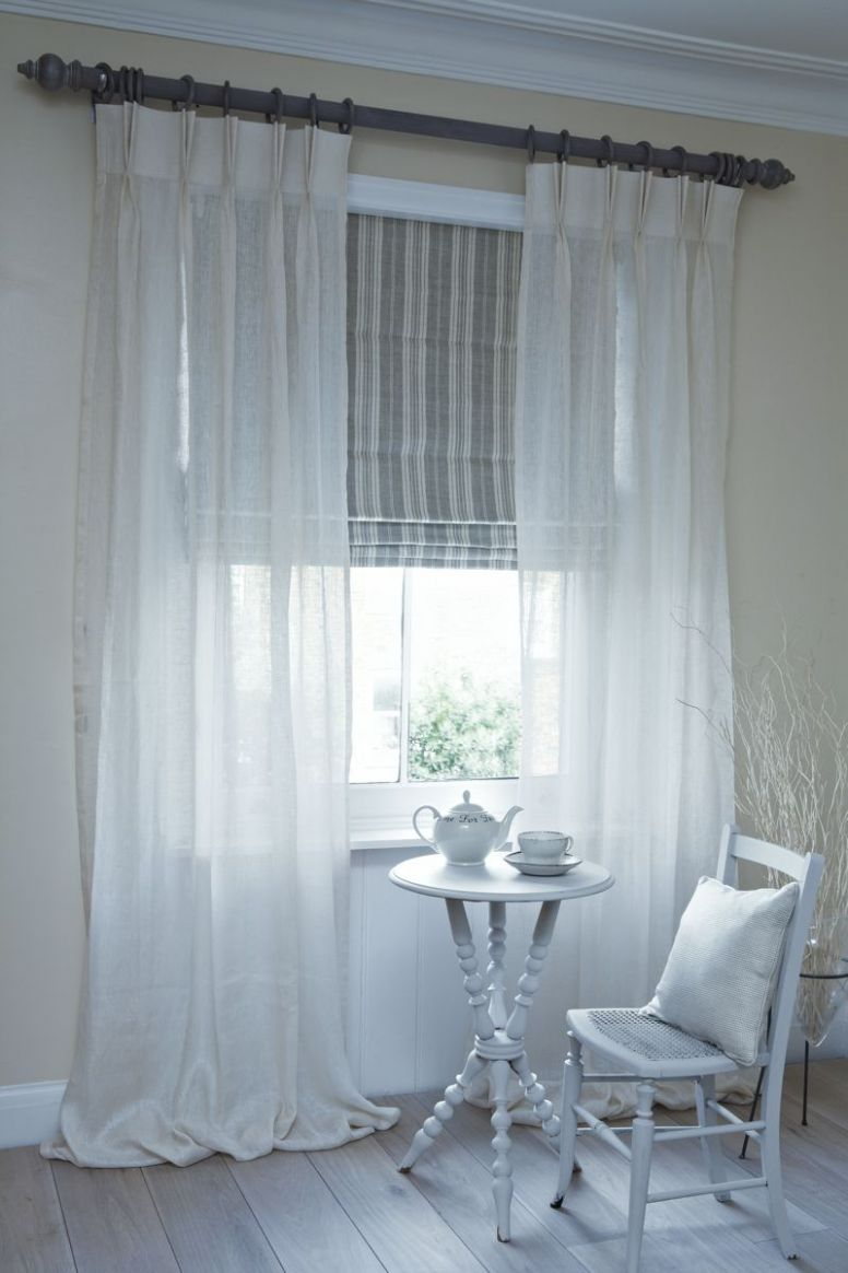 Design Ideas in 9 | Curtains with blinds, Living room blinds ...