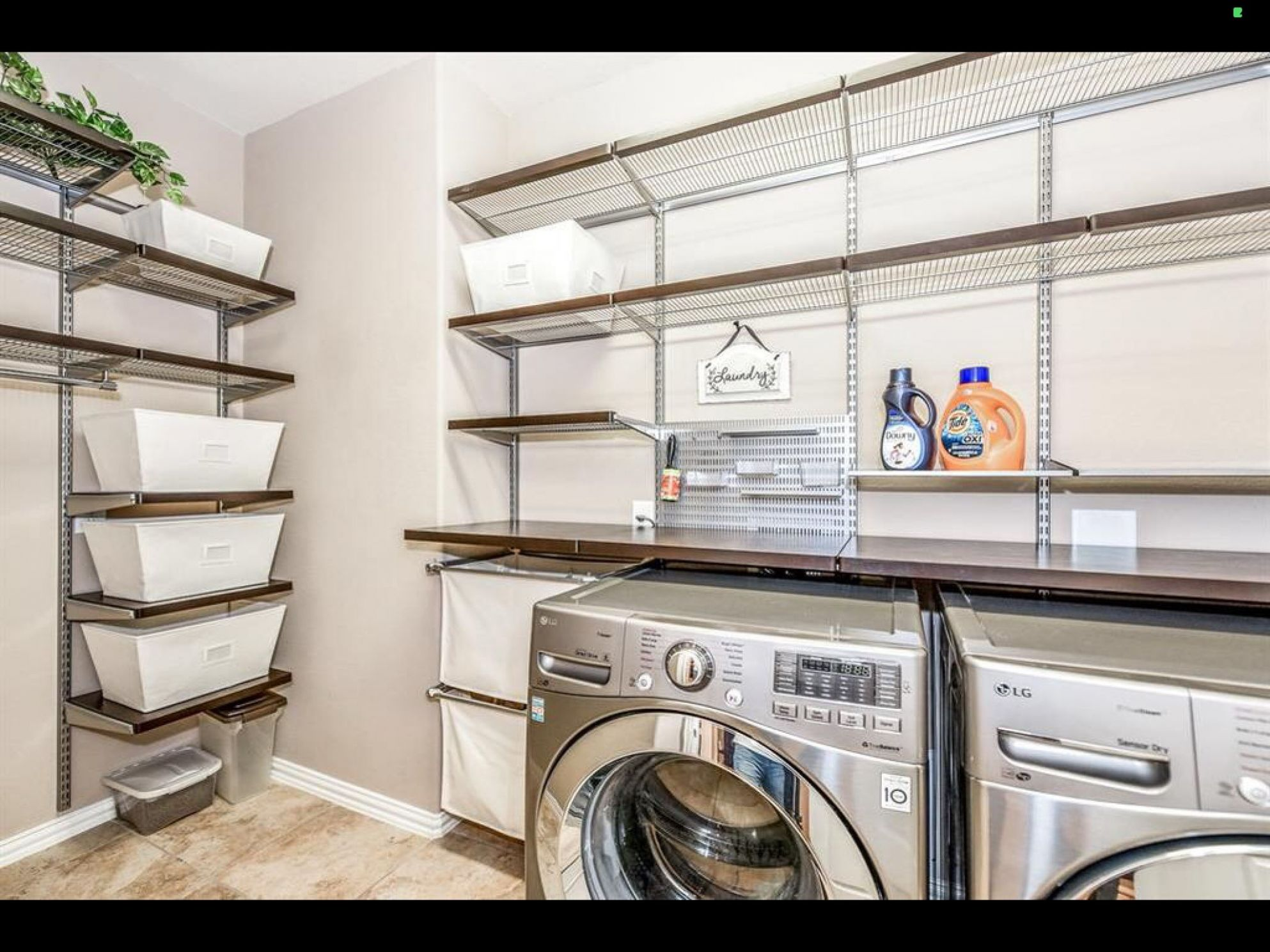designed my laundry room with elfa shelving in 12 | Interior ...
