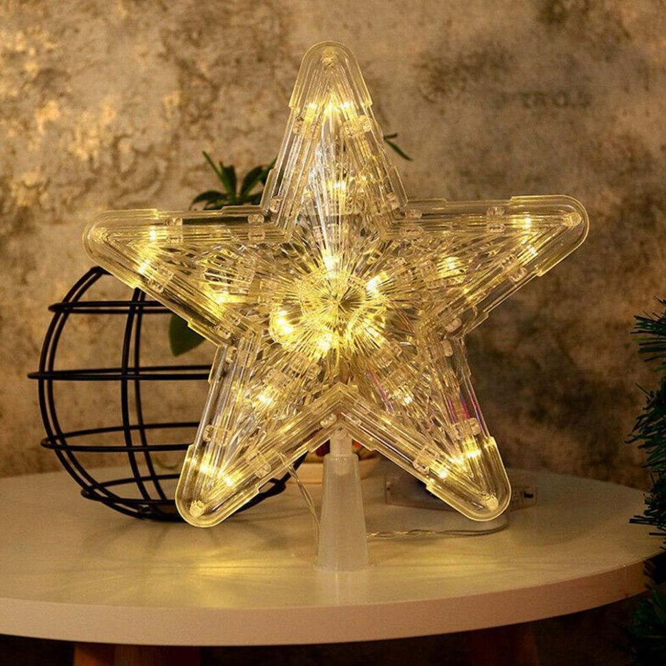 Details about Christmas LED Light Up Star Christmas Tree Topper Xmas Home  Decor Ornaments - home decor ornaments