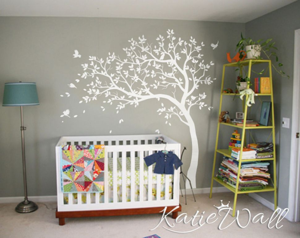 Details about Cute nursery tree wall sticker set Baby room wall decoration  Nursery tattoo KW11 - baby room decoration