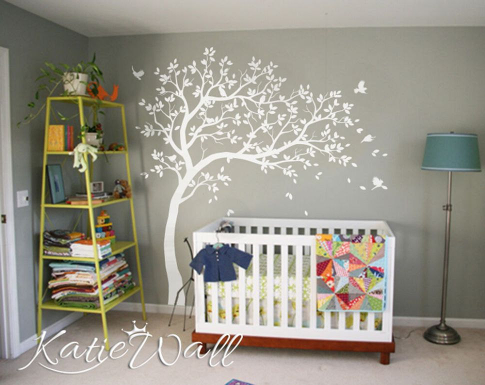 Details about Gender neutral nursery wall decoration Multi color baby room  tree set KW11R