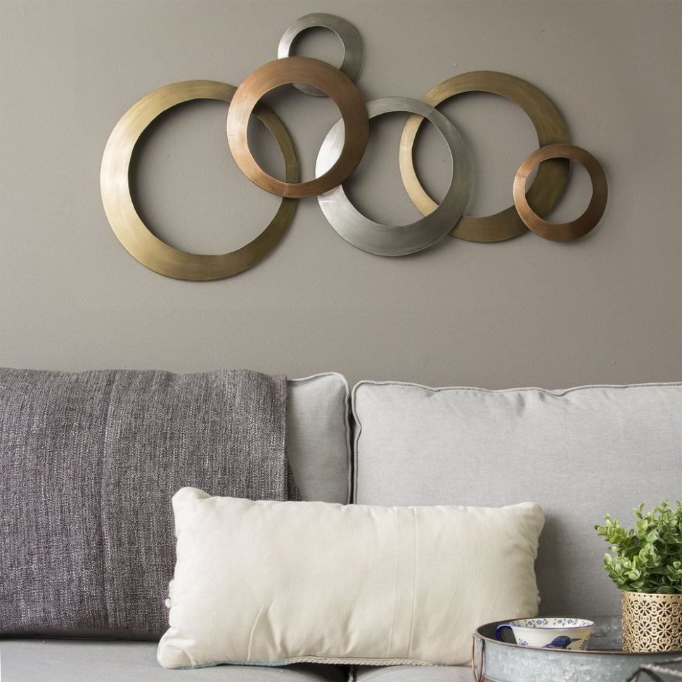 Details about Modern Contemporary Chic Style Metallic Circles Wall ..