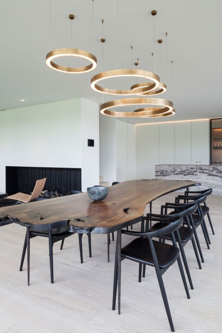 Dining Room Lighting Ideas - Use multiple fixtures over the table ..