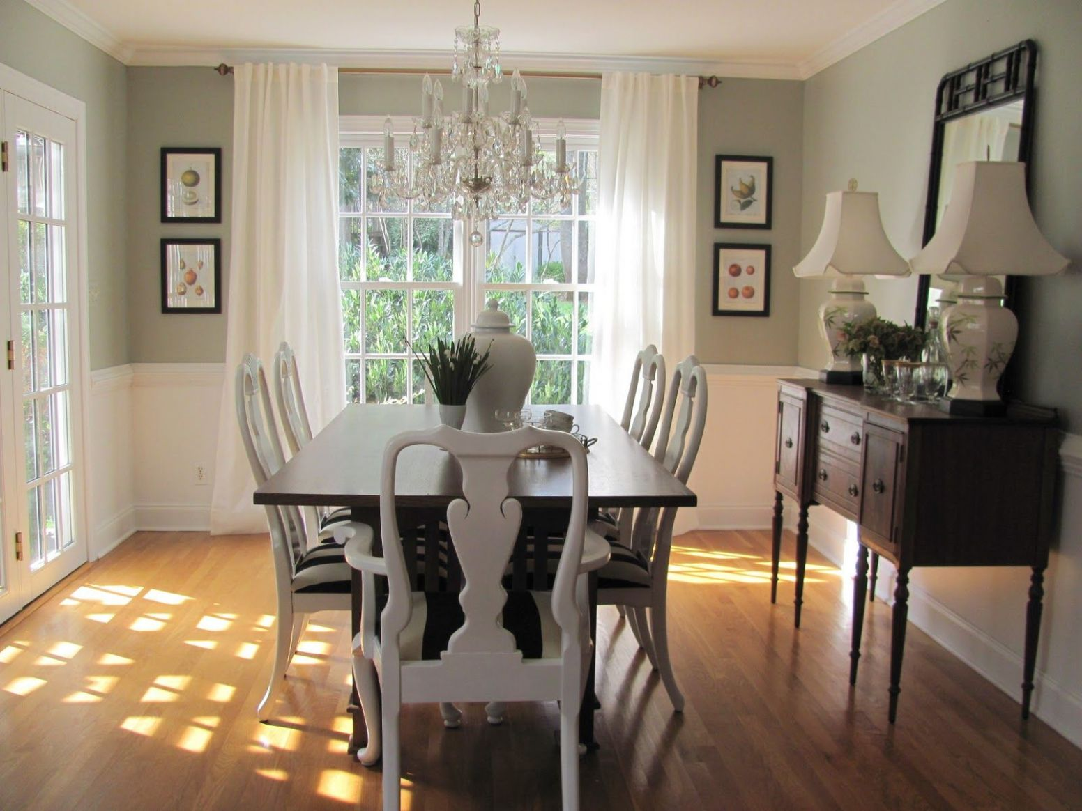 dining room paint colors with chair rail - Google Search | Dining ..