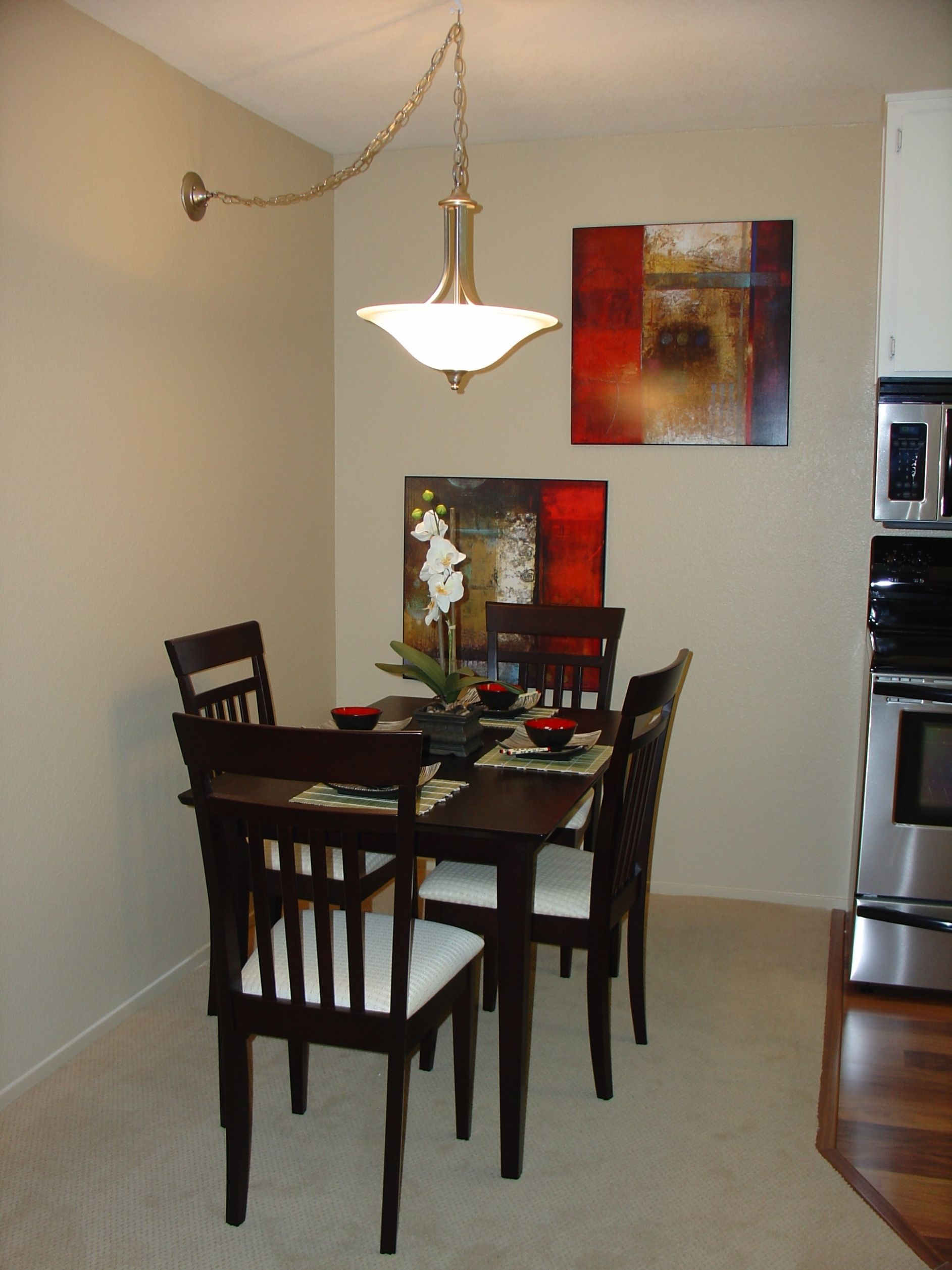 dining table design for small space - Karice - narrow dining room ideas