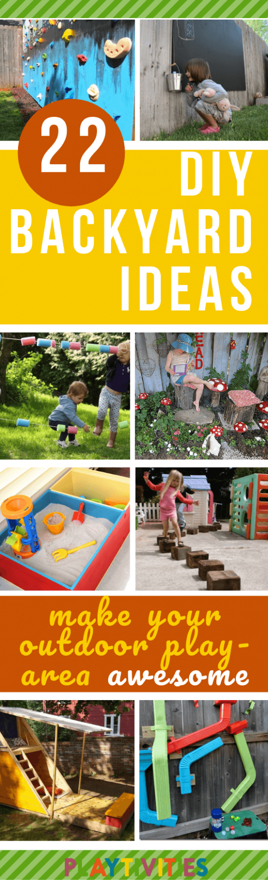 DIY Backyard Ideas For Kids - 12 Easy and Cheap Ideas - PLAYTIVITIES - garden ideas for kids