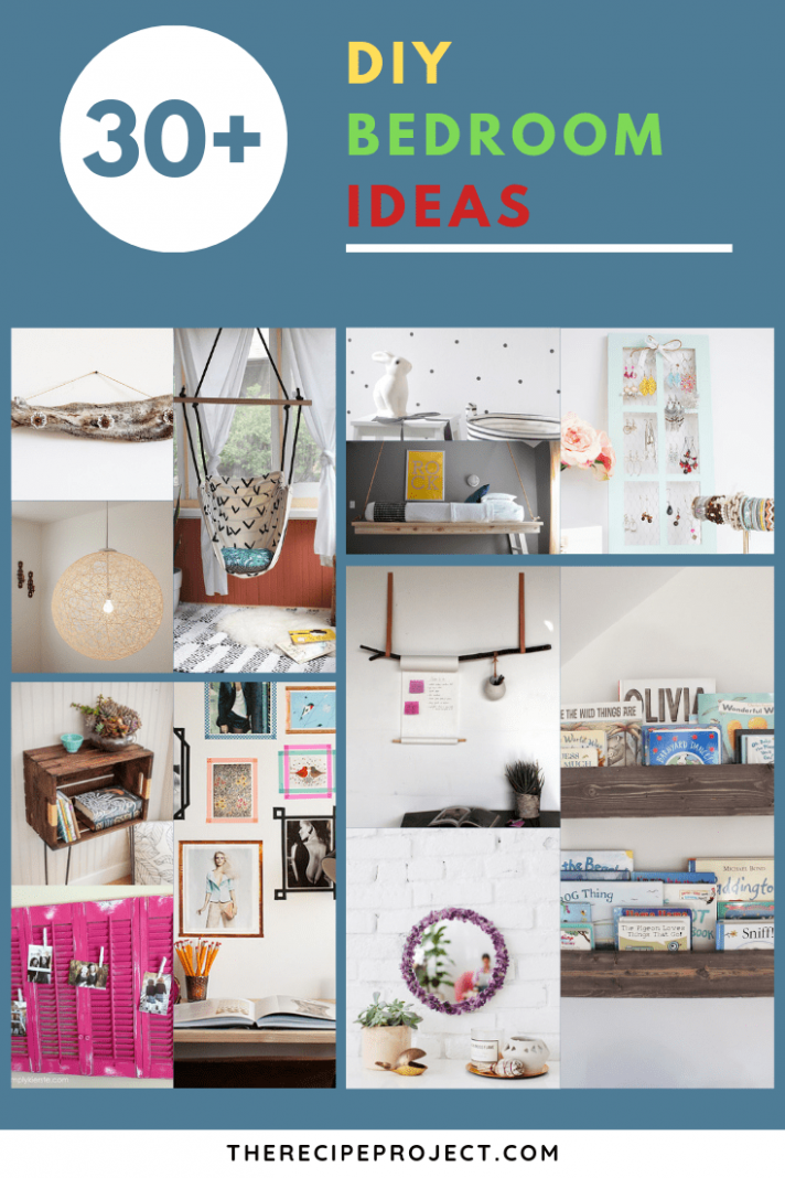 DIY Bedroom Ideas (Decorating, Organization, And Wall Art DIY Ideas) - bedroom wall decor ideas diy