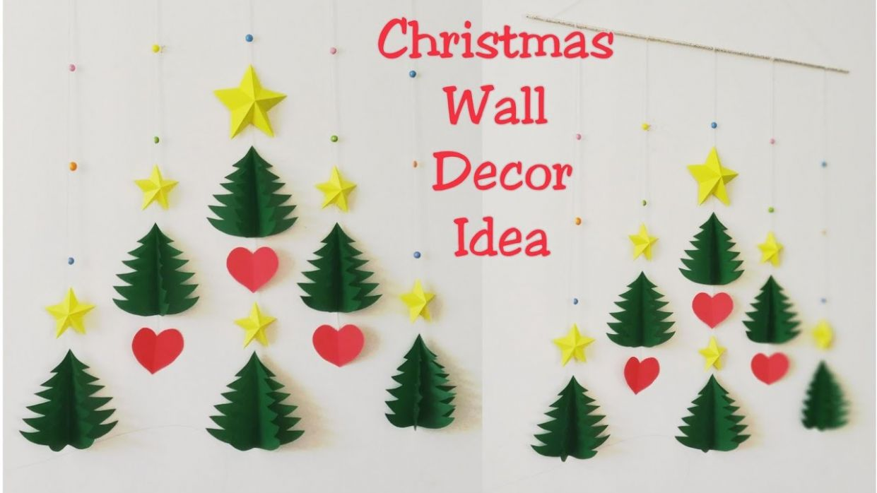 DIY Christmas Wall Decor Ideas/How to Make 12D Star & Christmas Tree Wall  Hanging/DIY Wall Hanging