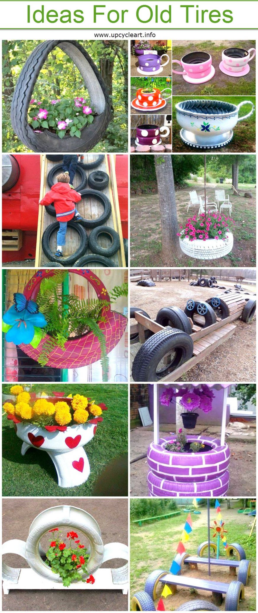DIY Crafting Ideas For Old Tires | Upcycle Art - garden ideas with tires