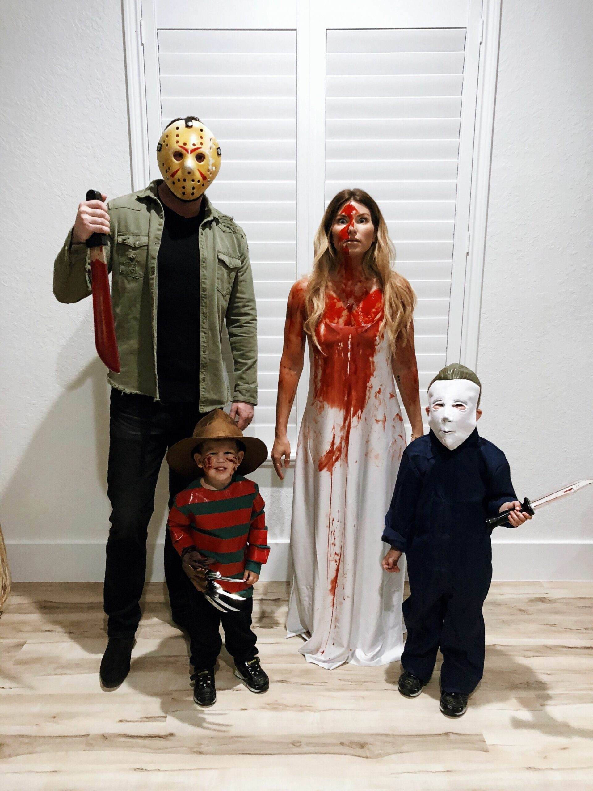 DIY #family costumes # family costumes #halloween #horror movie in ..