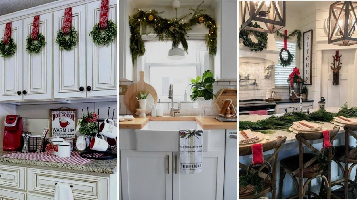 ?DIY Farmhouse style Christmas Kitchen decor Ideas?| Christmas Home  decor| Flamingo Mango - kitchen ideas for christmas