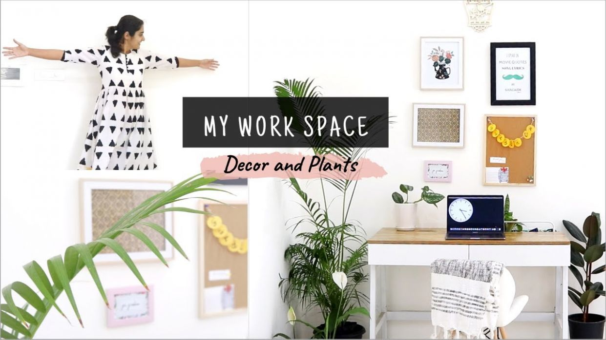 DIY Home Office: Decor & Plants | A Youtuber's work space