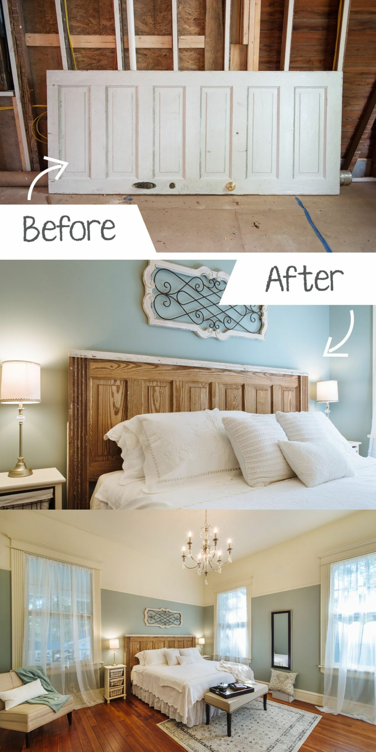 DIY Ideas for the Home! Turning an old door into a headboard! #DIY ...