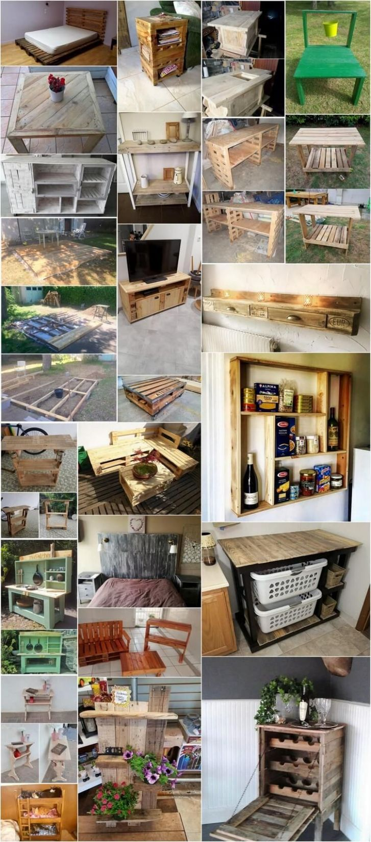 DIY Ideas to Reuse Wood Pallets and Personalize Home Decorating ..