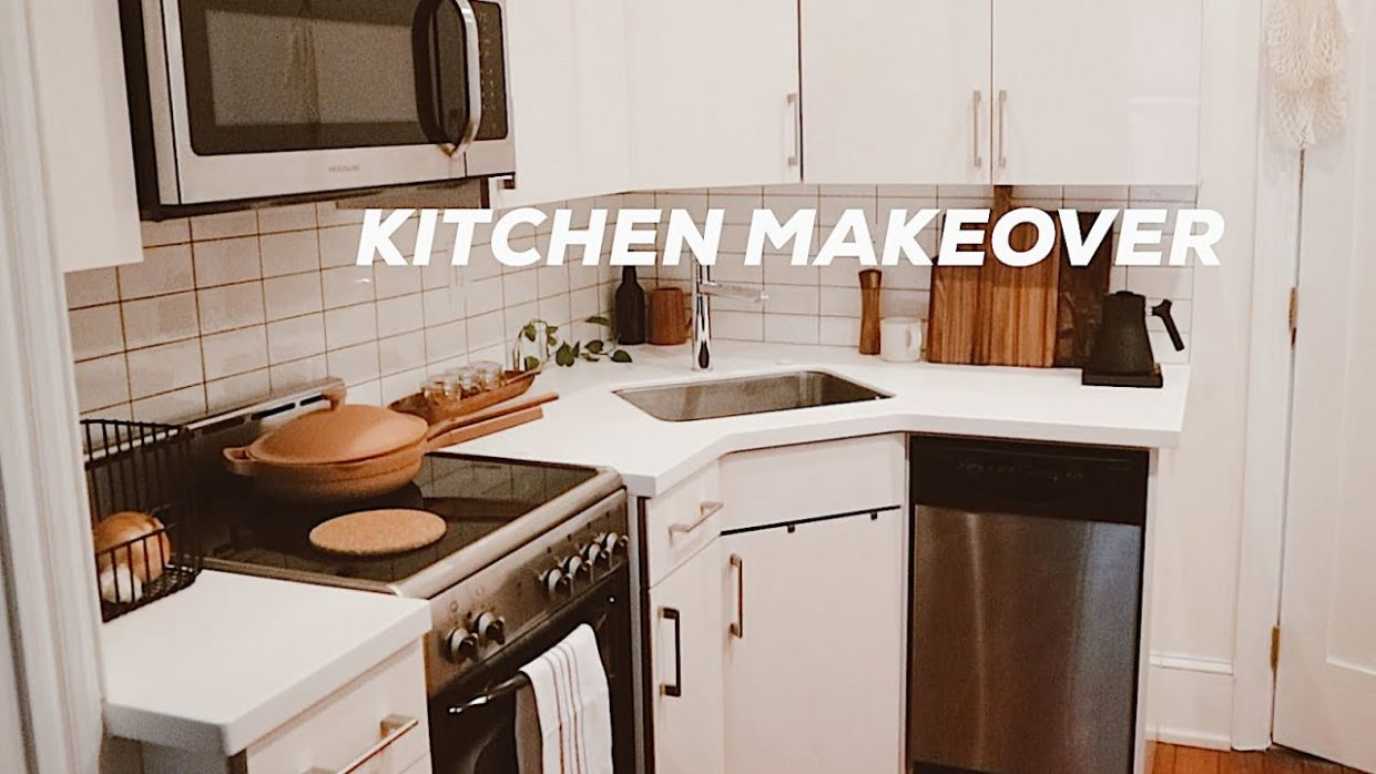 DIY KITCHEN MAKEOVER ON A BUDGET | Small Kitchen Design Ideas, Renter  Friendly! - kitchen ideas diy