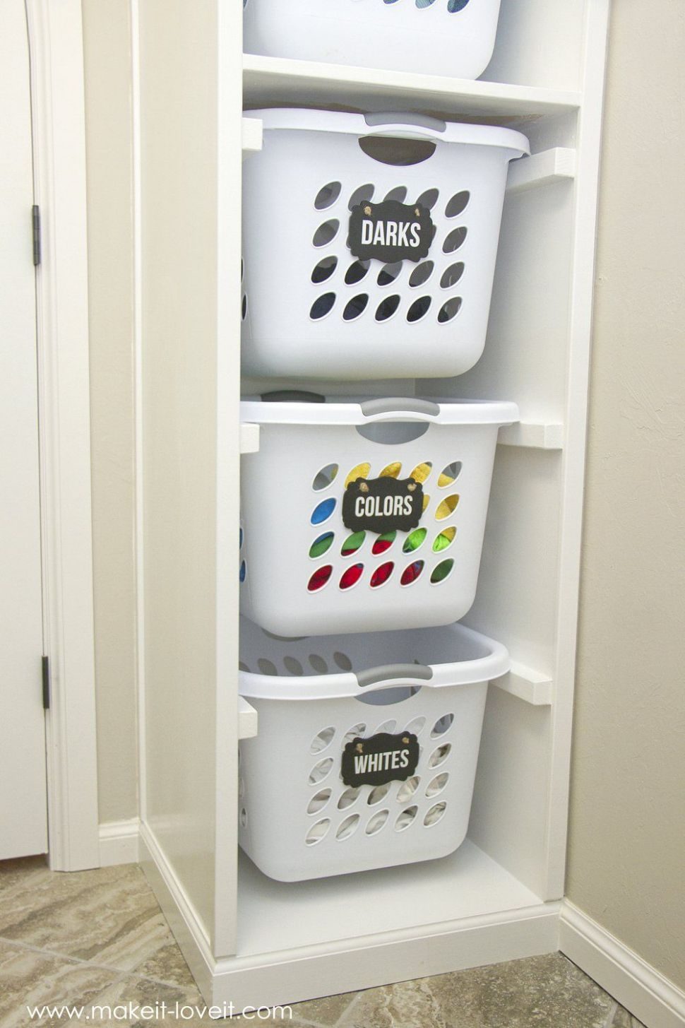 DIY Laundry Basket Organizer (...Built In) | Make It and Love It ..