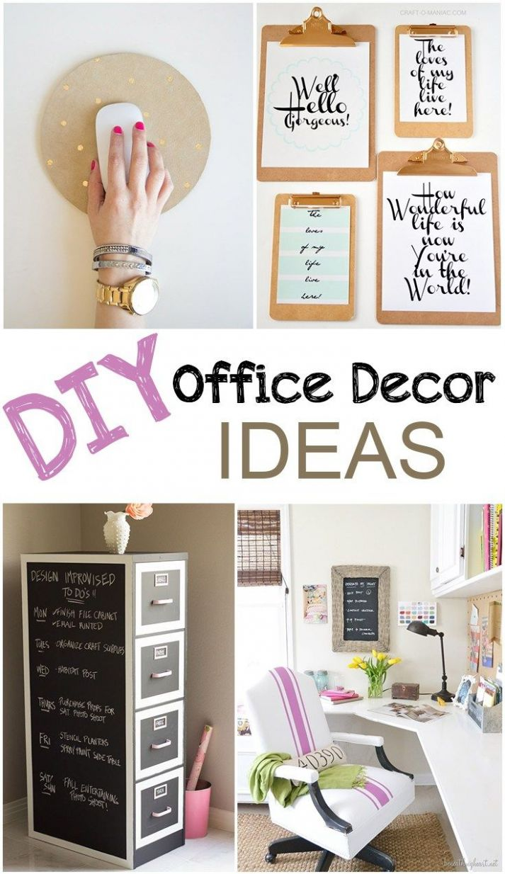 DIY Office Decor | Office decor, Home office decor - diy home office decor