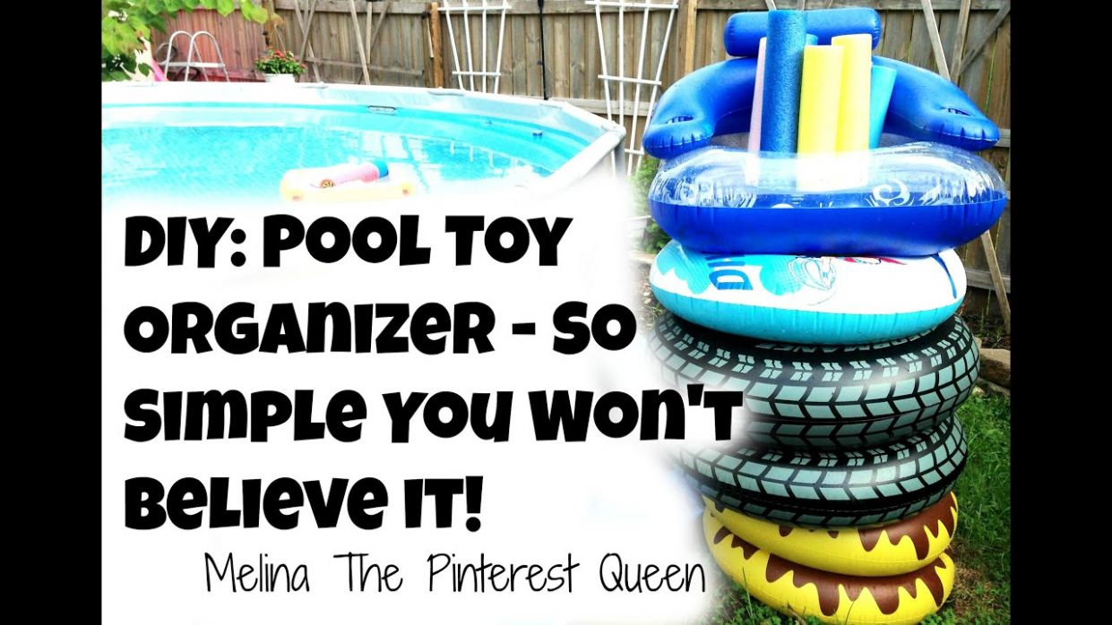 DIY: Pool Toy Organizer - So Simple You Won't Believe It