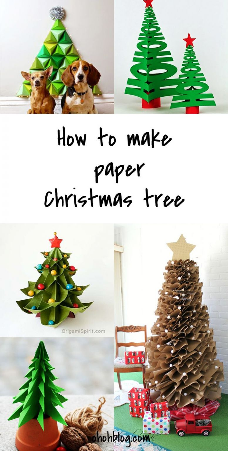 DIY to try # Paper Christmas tree | Diy paper christmas tree, Diy ...