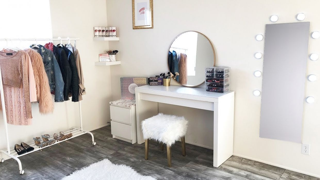 DIY Under $9 Marble Gold Beauty Room Makeover !!