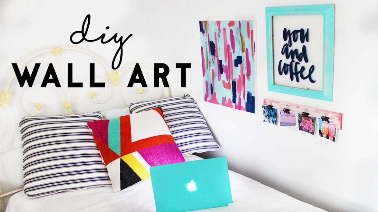 DIY Wall Art | Budget Room Decor For Dorm Rooms
