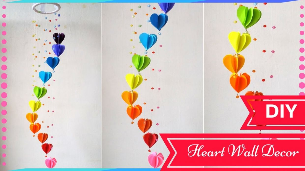 DIY Wall Decor Ideas for Valentines Day - Heart Decors in living Room | By  Maya Kalista!