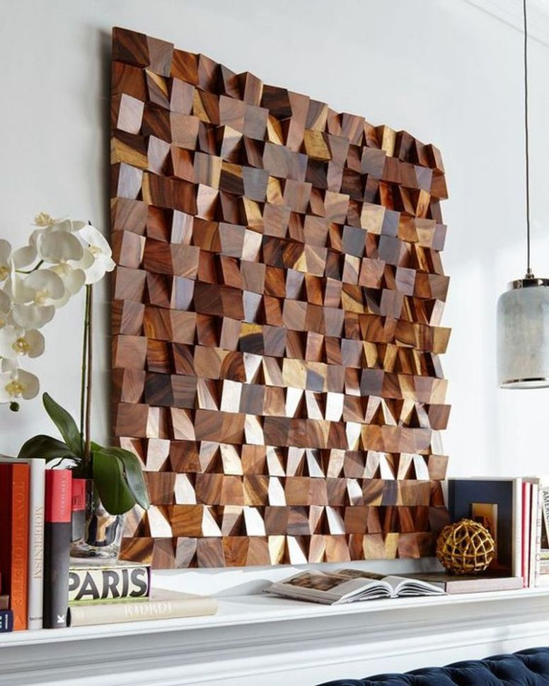DIY Wood Wall Art | Make Art from Scrap 9x9 Lumber! | The Navage Patch - wall decor ideas with wood