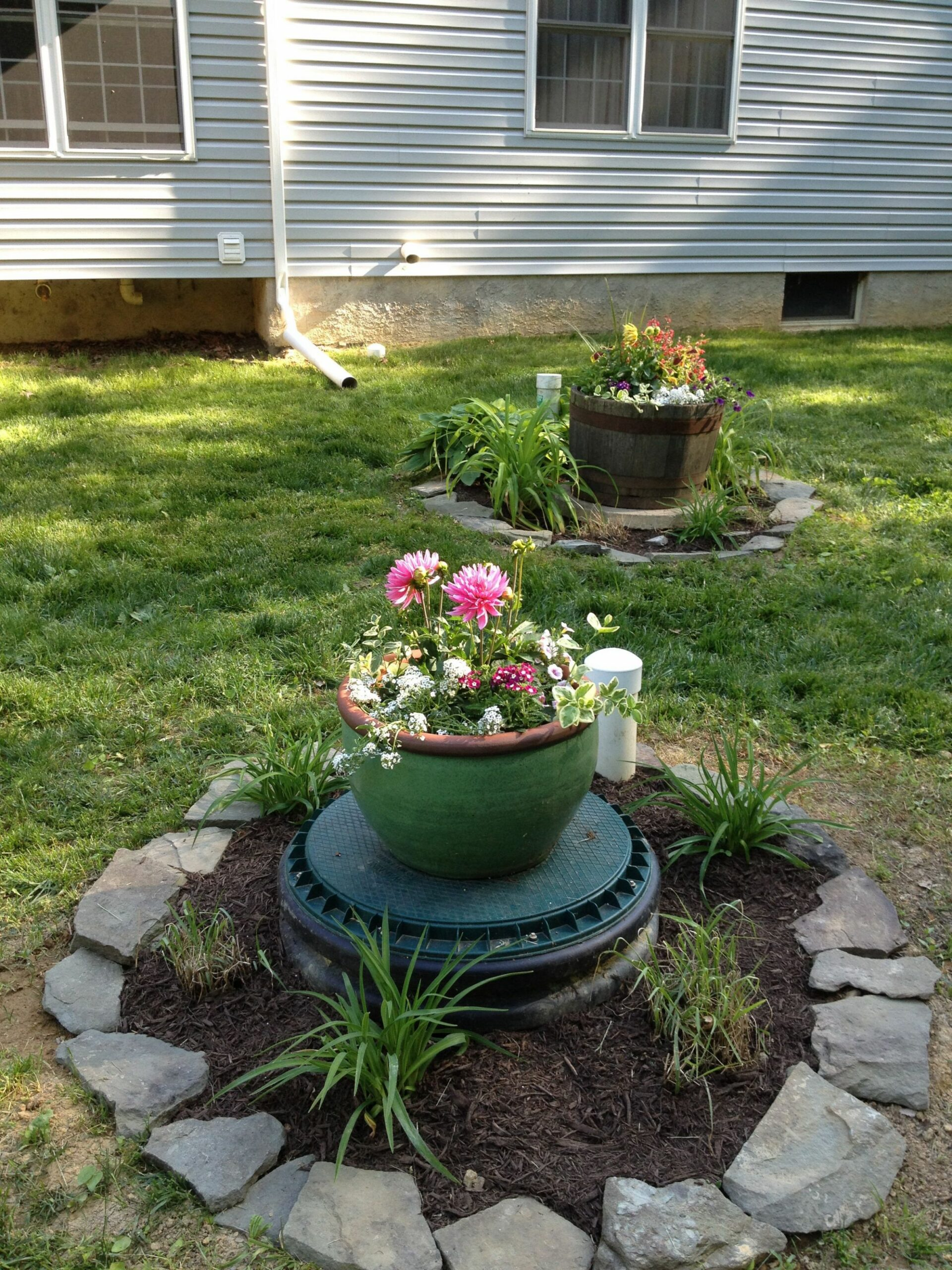 Dressing up the septic covers | Septic tank covers, Patio landscaping - garden ideas to hide septic tank