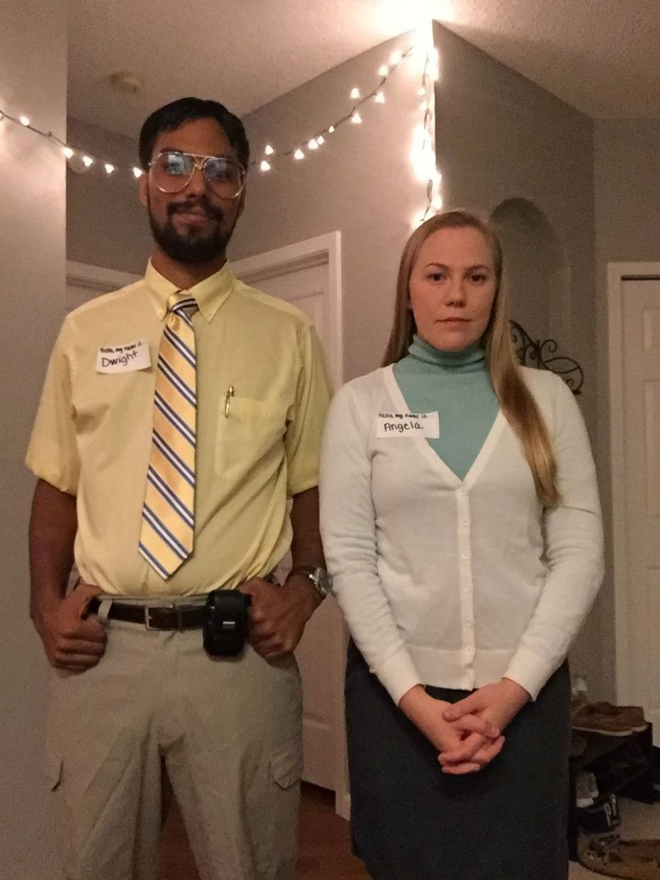 Dwight Schrute and Angela Martin! The Office Halloween Costume ..
