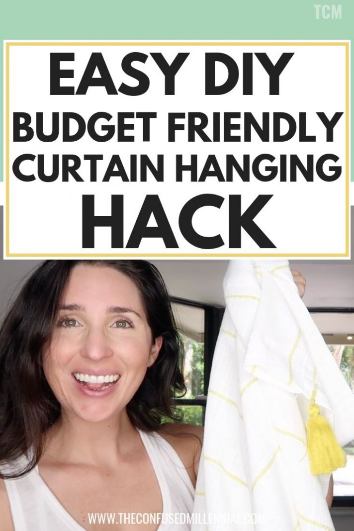 Easy DIY Budget Friendly Bay Window Curtain Hanging Hack - The ..
